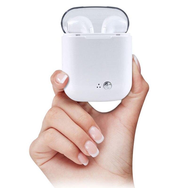 I7S TWS Ture Fones de Ouvido Fones De Ouvido Fones de Ouvido Música Estéreo de Fone De Ouvido Do Ar Sem Fio Bluetooth Duplo vagens Para Apple iPhone X 8 Huawei