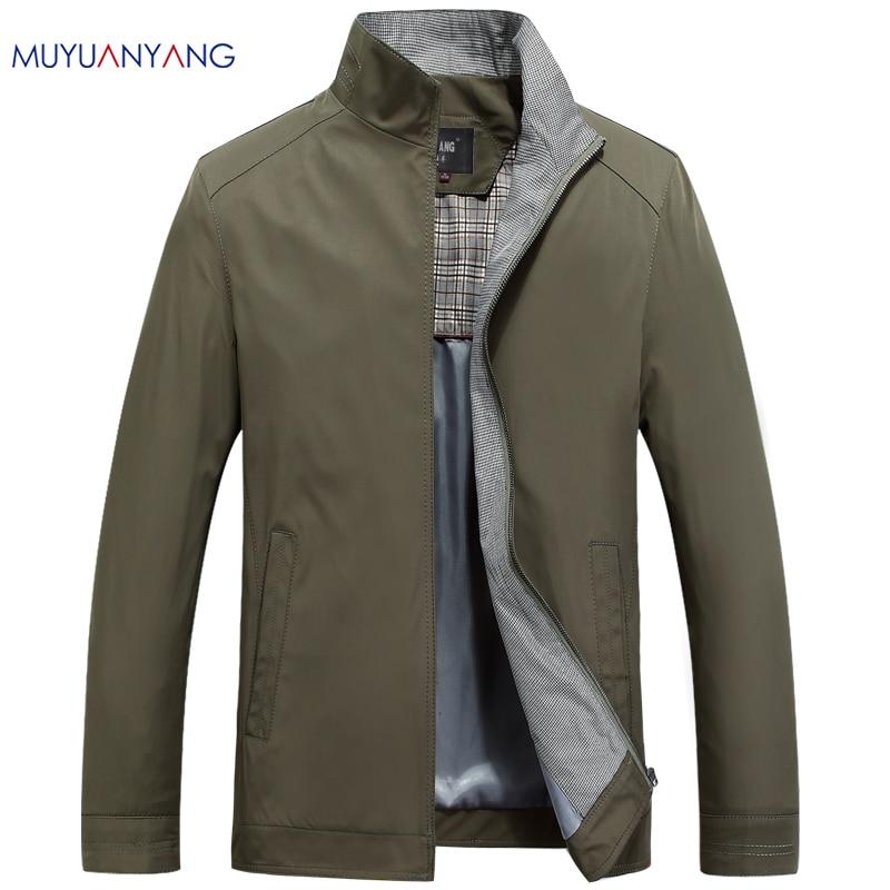 Mu Yuan Yang  Autumn And Winter Men's Casual Jackets Coats Men's Fashion Windbreaker Jacket Male Slim Fit Coats Plus Size M~3XL-in Jackets from Men's Clothing    1