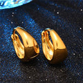 1pc Retro Vintage Hoop Earrings For Women Yellow Gold Plated Girls Jewelry Brincos Europen and American Punk Style Newest
