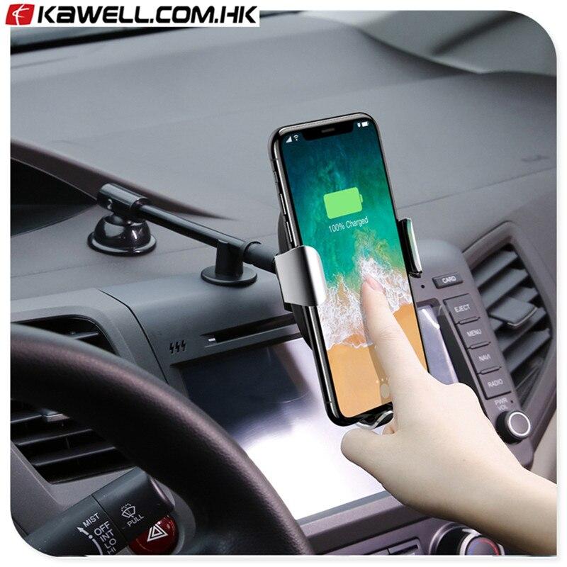 Support de voiture Qi Chargeur Sans Fil Pour téléphone intelligent Charge Rapide Rapide Sans Fil De Charge Pad De Voiture Support Mobile Stand