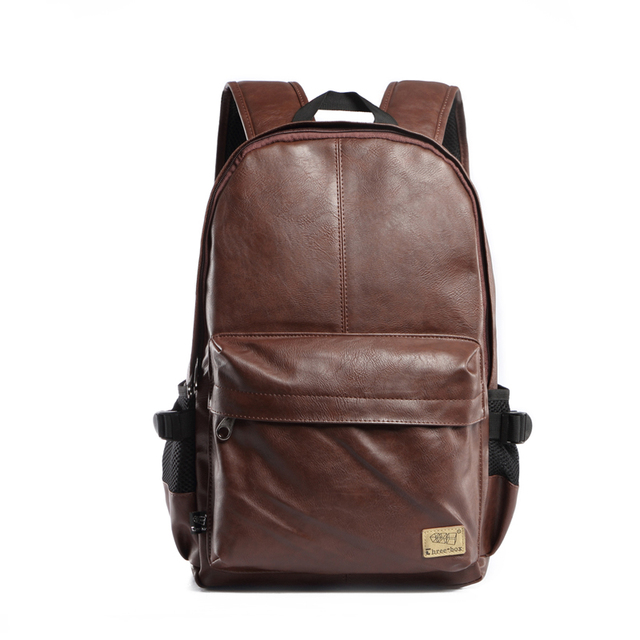 48a27bbd4647 Korean Luxury Brand Women Men Pu Leather Bag Backpack Wax Oil Men School  Backpacks Outdoor Travel School Backpack Bags