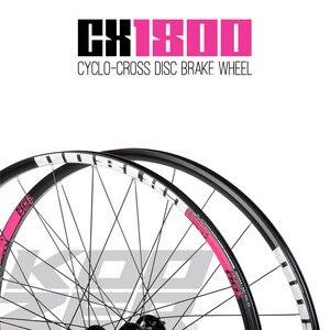 Image 2 - KOOZER CX1800 drogowego rowerowy hamulec tarczowy koła 4 łożyska 72 pierścień 700C koła rowerowe obrecz 24 otwór 1820g