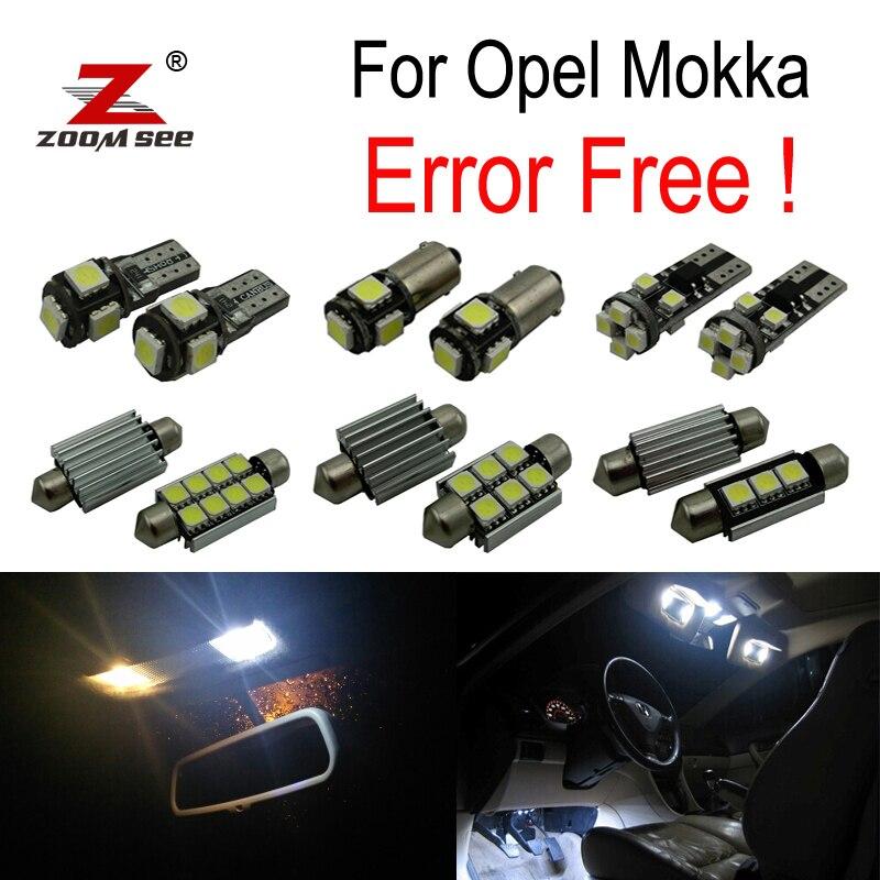 ZOOMSEEZ 10pcs license plate lamp for Opel Mokka for Vauxhall LED bulb Interior Light Kit  (2012+) opel mokka с пробегом