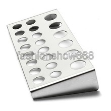 22 Holes Tattoo Pigment Ink Cap Cup Holder Stainless Steel Shelf Stand Tip Supply Tools Body Beauty