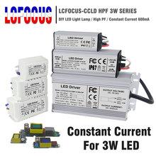 שנאי תאורת 3 W 12 W 15 W 18 W 24 W 36 W 48 W 60 W 90 W 600mA LED נהג 3 ואט LED עבור DIY מנורת אספקת חשמל