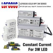 Transformatory oświetleniowe 3 W 12W 15W 18W 24W 36W 48W 60W 90W 600mA LED sterownik 3 Watt LED dla DIY zasilanie lampy
