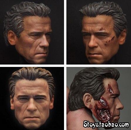 1/6 figure doll accessories Terminator Genisys T800 Arnold Schwarzenegger head shape carved for 12Action figure doll 1 6 scale figure doll head shape for 12 action figure doll accessories the terminator arnold schwarzenegger male head carved
