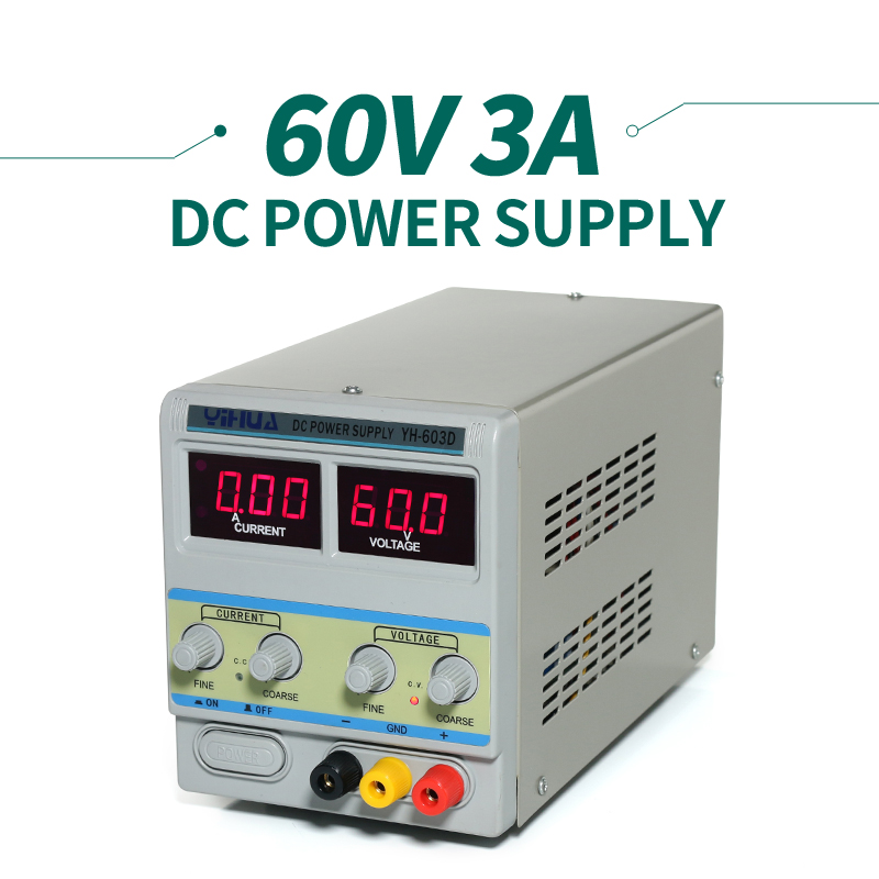 YIHUA 603D  Power Supply adjustable  60V 3A cps 6011 60v 11a digital adjustable dc power supply laboratory power supply cps6011