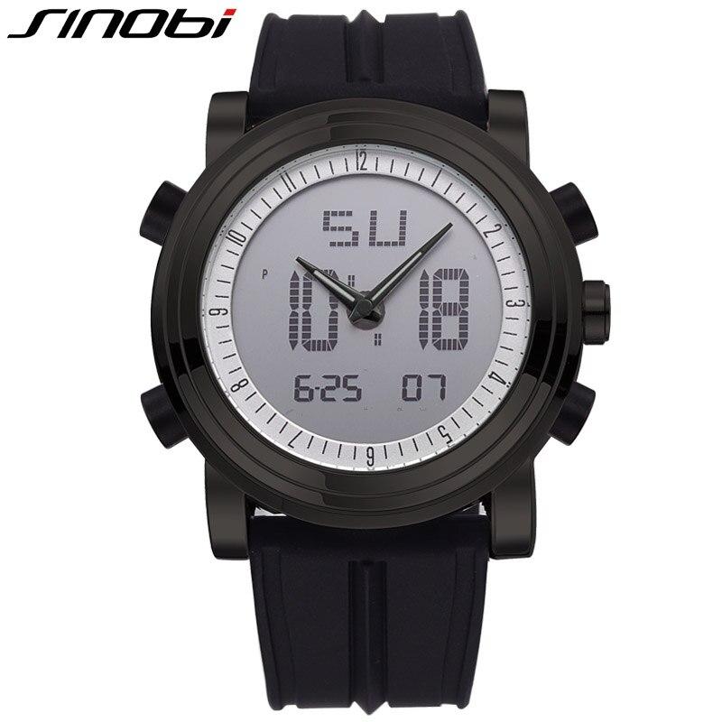 SINOBI Brand LED Digital Mens Military Watch Men Sports Watches 3ATM Swim Climbing font b Fashion