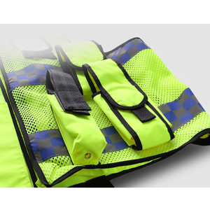 Image 3 - High visibility traffic police reflective vest with multi pockets