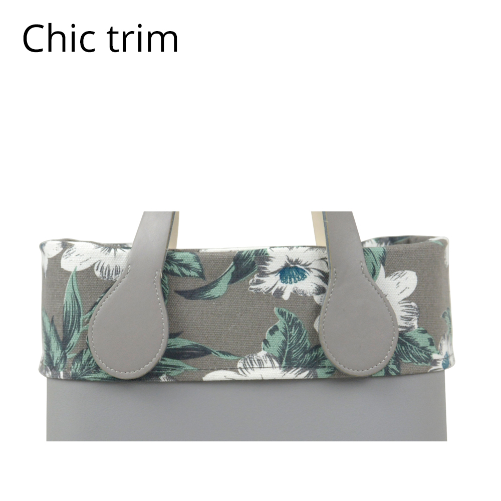 New Autum Trim Floral Fabric Trim Cotton Fabric Thin Decoration For Ochic Obag Handbag O Bag