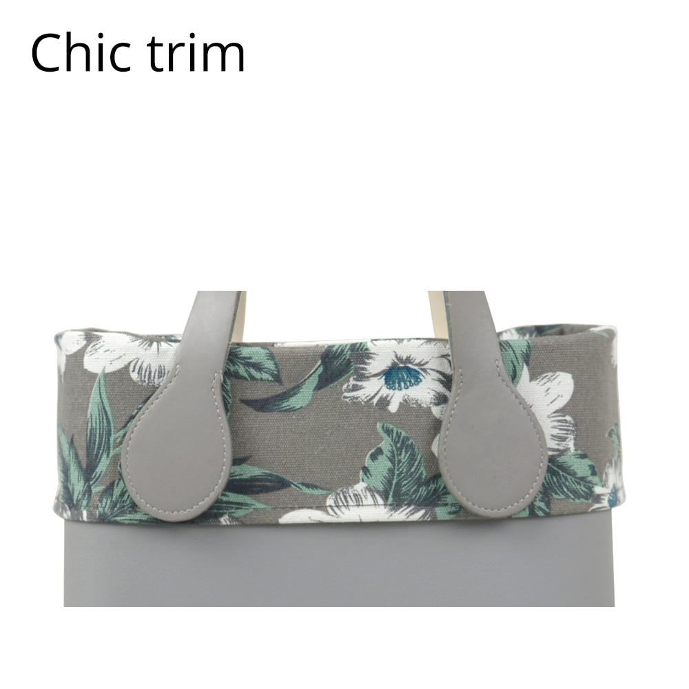 New Autum Trim Floral Fabric Trim Cotton Fabric Thin Decoration For Ochic Obag Handbag O Bag