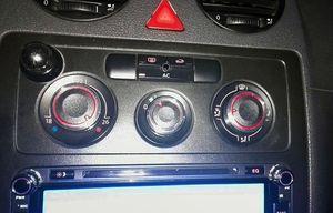 Image 2 - Farbe Mein Leben 3 Teile/satz Auto Klimaanlage Wärme Steuerung Schalter AC Knob für Volkswagen VW Caddy 2005   2010 teile Zubehör