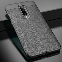 Kolpler Case for Oneplus 7 Pro Litchi Pattern leather Soft TPU Case for Oneplus 7 Cover for 1+7 Pro bag Fundas