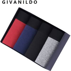 Givanildo 4pc/lot Cotton Boxer Shorts Mens Underwear
