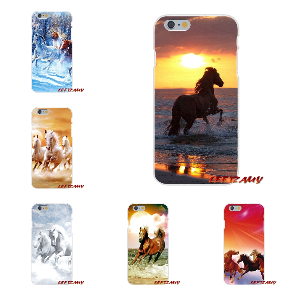 Accessories Phone Cases Covers For Samsung Galaxy S3 S4 S5 MINI S6 S7 edge S8 S9 Plus Note 2 3 4 5 8 Horses Running On The Beach
