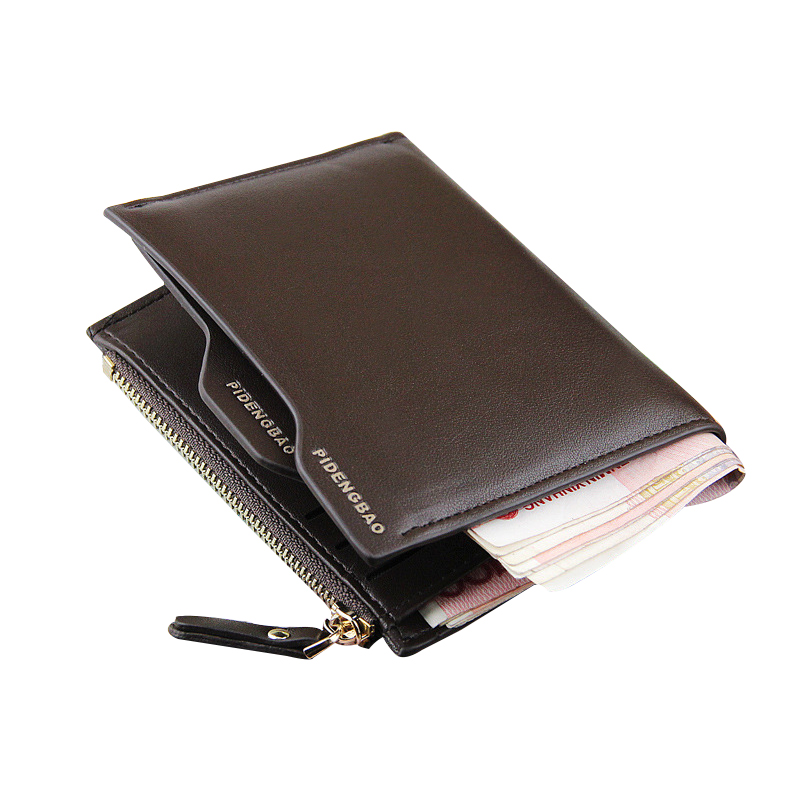 Male Wallet Leather Wallet Men Clutch Bag High Quality Male Purse Short Leather Wallets Hasp Zipper Card Holder Coin Case Pocket 2017 new cowhide genuine leather men wallets fashion purse with card holder hight quality vintage short wallet clutch wrist bag
