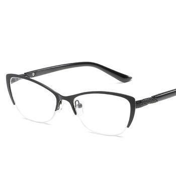 2a2e3fe506 Gafas de lectura de ojo de gato KUJUNY para mujer, gafas presbiópicas  antifatiga, marco de Metal, gafas de prescripción de hiperopía