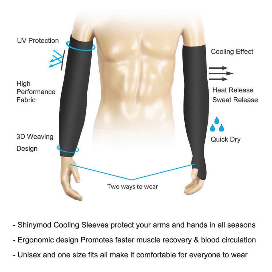 1 пара Сверхлегкий лед ткань рукава манга теплые летние спортивные УФ Защита Открытый Бег Баскетбол Волейбол Велоспорт