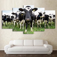 5pcs/set Diy Diamond Painting full square drill home decor Painting Cross Stitch Embroidery Milk Cow Mosaic picture ZP 335
