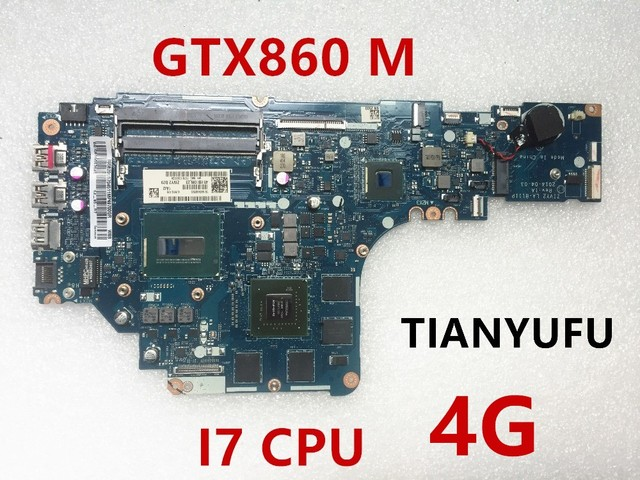 US $169 0 |Free shipping For Lenovo Y50 70 Laptop Motherboard With i7 CPU  GTX 860M 4G ZIVY2 LA B111P MOTHERBOARD tested 100% work-in Motherboards  from