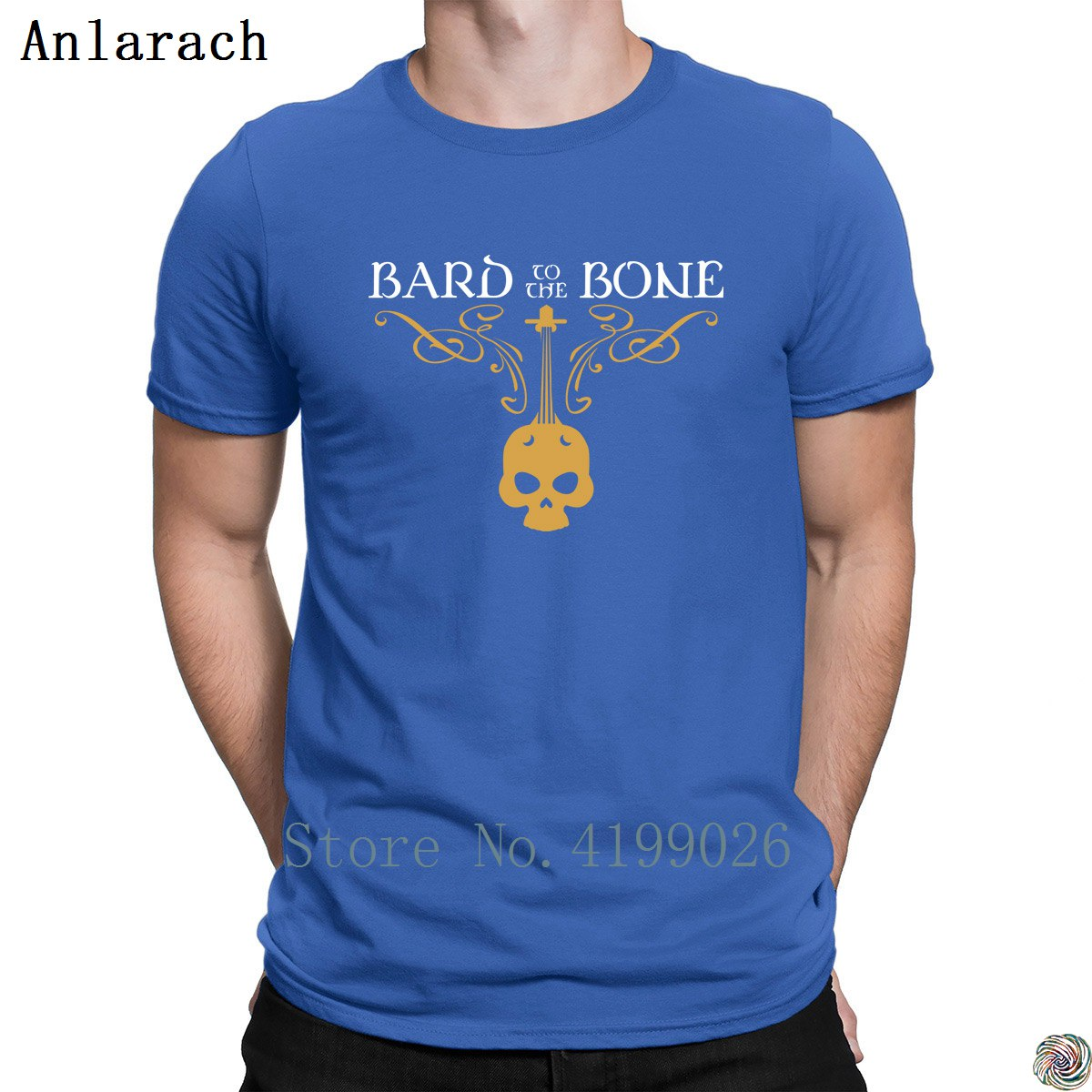 Bard To The Bone Dungeons And Dragons Inspired DnD Tshirts Summer Style Hilarious Normal Men's Tshirt Create Clothing Tee Top