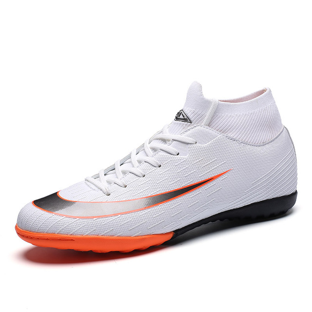 Men Indoor turf Soccer Shoes Boots with Ankle Cleats Man futzalki for football Shoes Boot Mens Kids Shoe Training Sneakers
