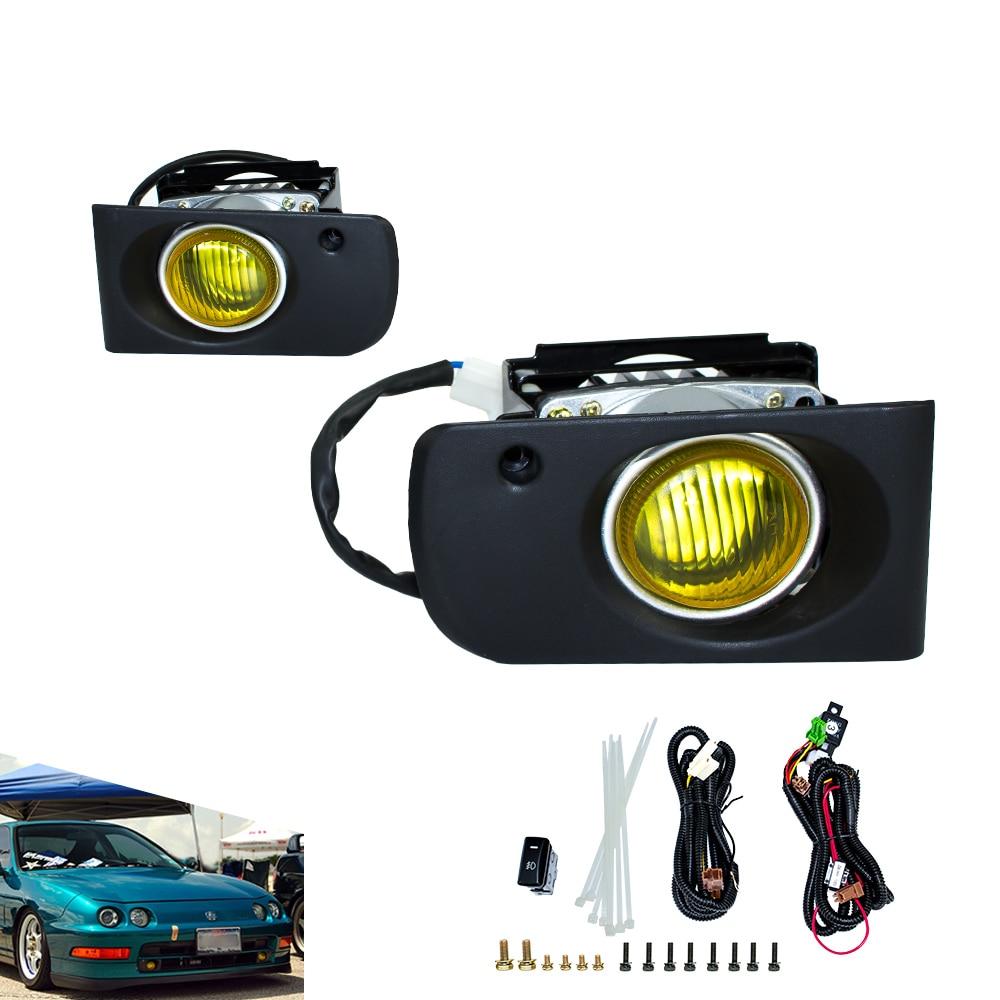 Fog light for 1994 2001 Honda ACURA INTEGRA DC2 JDM fog lamps yellow smoke Fog Driving