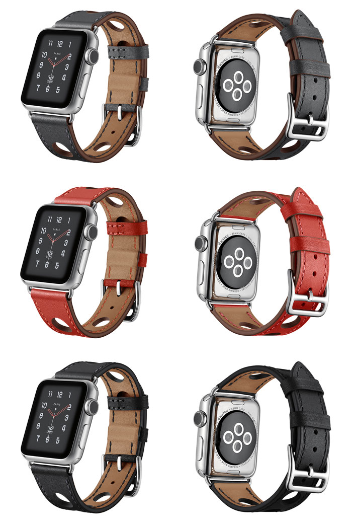 Bracelet cuir Apple Watch Séries 1, 2, 3 et 4