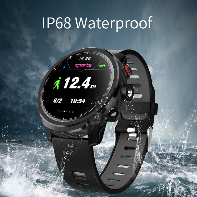 """Slimy L5 Smart Watch Standby for 100 Days 1.3"""" IP68 Waterproof Swimming Smartwatch Support Led Lighting Message Call Reminder 1"""