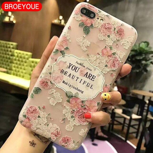 BROEYOUE Case Voor Samsung Galaxy J2 J3 J5 J7 A3 A5 A7 2016 2017 Relief Siliconen Cases Voor iPhone 5 5 S SE 6 6 S 7 8 Plus X gevallen