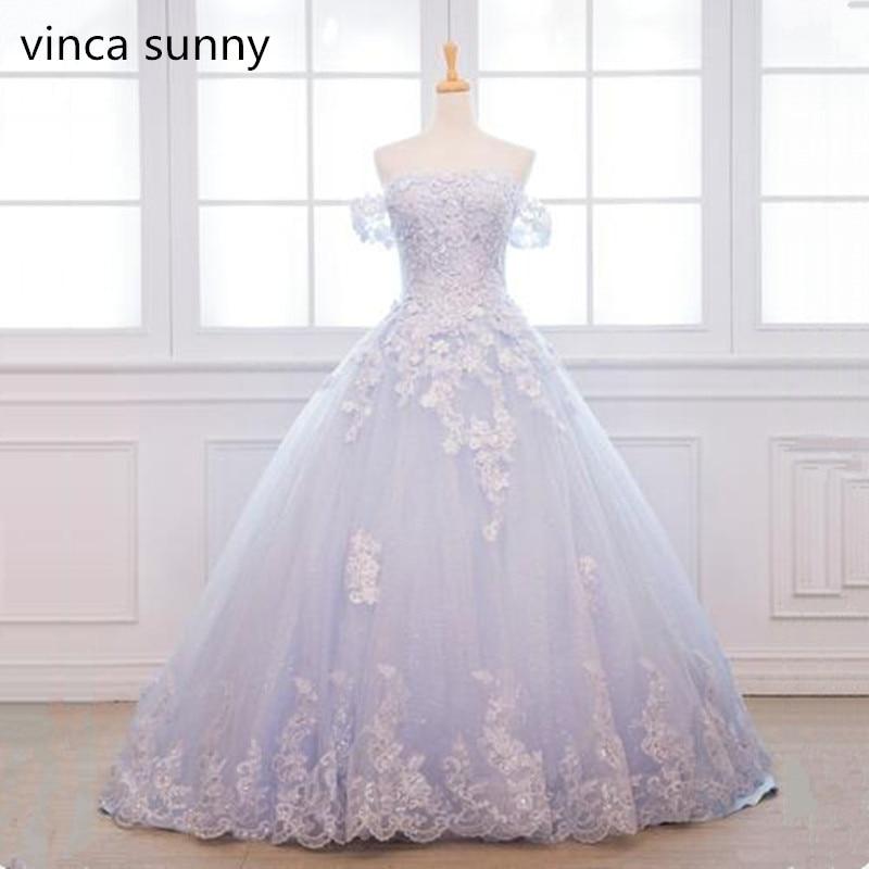 Sky Blue flowers Beaded Prom Dresses 2019 Vestido De Festa Longo Plus Size Evening Dresses Elegant