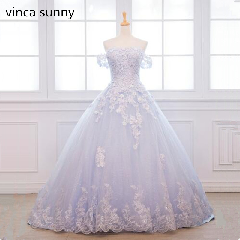Cielo Blu fiori di Perline Abiti da ballo 2019 Vestido De Festa Longo Plus Size Abiti Da Sera Lungo Elegante di Promenade Del Partito