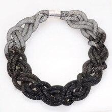 Collares declaración De Cristal Con Resina Tiny Completo Collar de Cristal Para Las Mujeres Regalos N14180