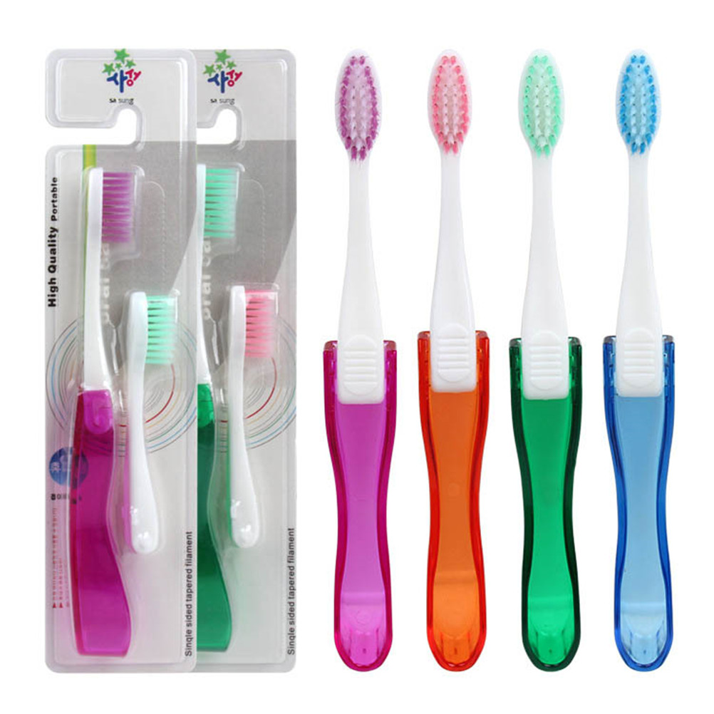 1 set Foldable Folding Soft Toothbrush Tooth Brush Easy To Carry Modern Mini Design Random Color image