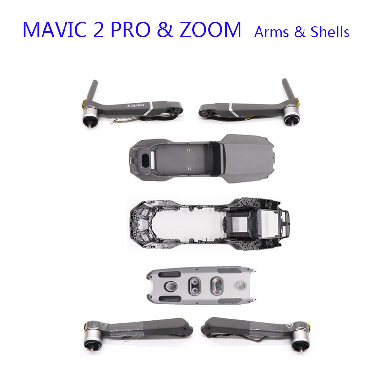 Original Replacement For DJI Mavic 2 PRO/ZOOM Motor Arms Upper Cover Middle Frame Bottom Shell Body Shell Repair Spare Parts