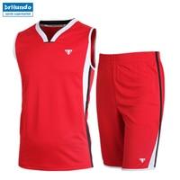 Basketball Sports Jersey Set Men Dry Fit Training Suit Basketball jersey Team Game Boy Custom Uniform Clothing V neck Jerseys