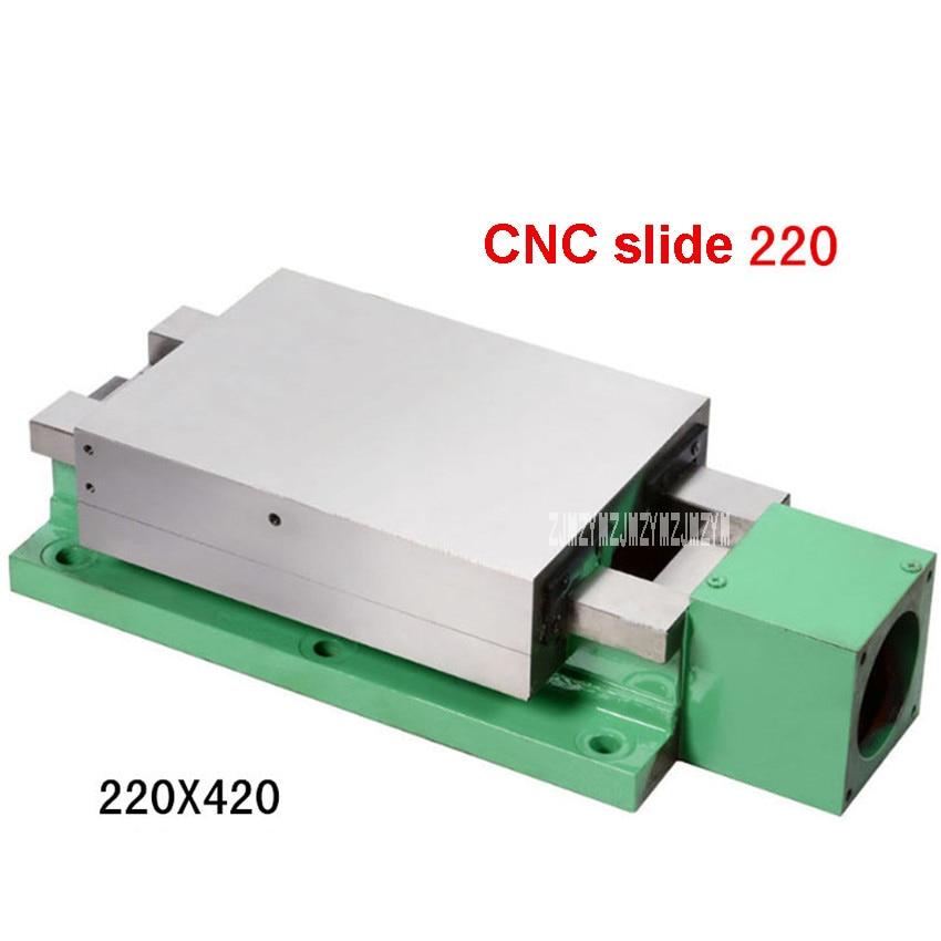 Nouveau 220 Table coulissante machines-outils CNC Table coulissante Module linéaire Rail glissière Table Guide de vis Table 380 V 750 W 220*420 220*300