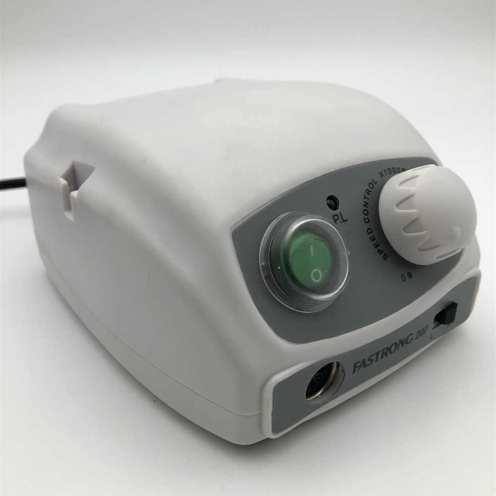 40000 Rpm Kuat 207B Kotak Kontrol & Kuat 210 102L Micromotor Handpiece Electric Manikur Bor Set untuk Kuku Perangkat Polishing