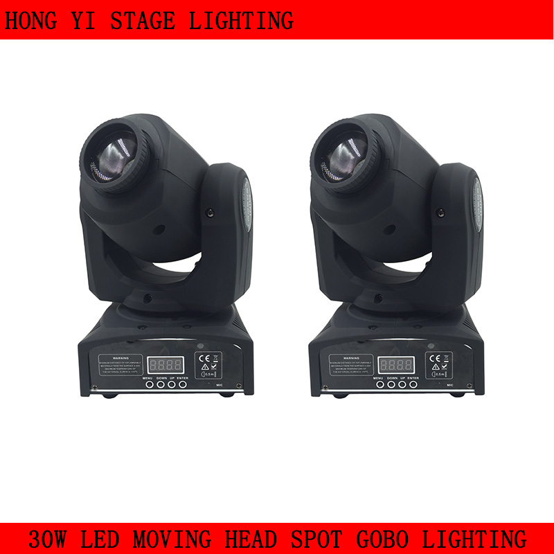 fast shipping HOT/ 2pcs/lot Eyourlife LED Inno Pocket Spot Mini Moving Head Light 30W DMX dj 8 gobos effect stage lights багажники inno