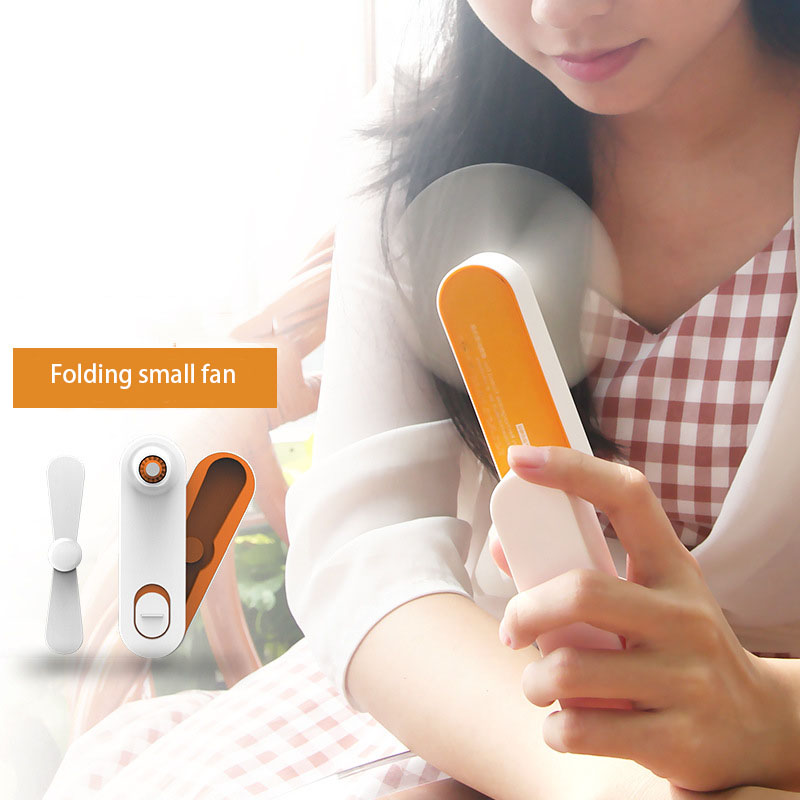 Creative Mini Air Conditioning Fan Portable USB Cooler Cooling Rechargeable Creative Handheld Mini Fan dmwd mini portable handheld usb air conditioning fan battery rechargeable led light cooling fan 3 gear speed desktop lamp cooler