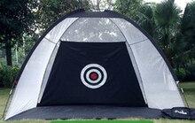 3 m grande tamanho interior de prática de golfe swing trainer net haste gaiola net