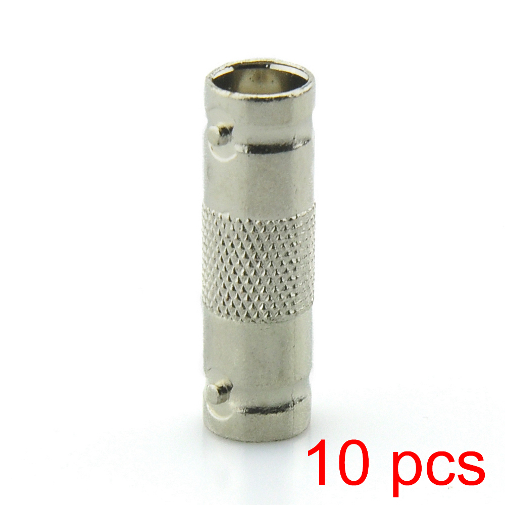 10x BNC Female to Female Inline Coupler Coax Connector Extender Coax RG6 RG59 annke 10pcs bnc female to female inline coupler coax bnc connector extender for cctv camera security video surveillance system