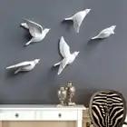 1 шт. Новая креативная призрачная летучая мышь Наклейка на стену на Хэллоуин для гостиной, спальни декоративная наклейка на стену - 2