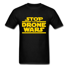 Stop the Drone Wars Star Revolution Anarchism funny Tee t shirt Free shipping