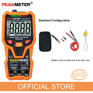 Image 5 - PM8248S Smart Volledig Autorange Professionele Digitale Multimeter Voltmeter Met Ncv Frequentie Bargraph Temperatuur Transistor Test