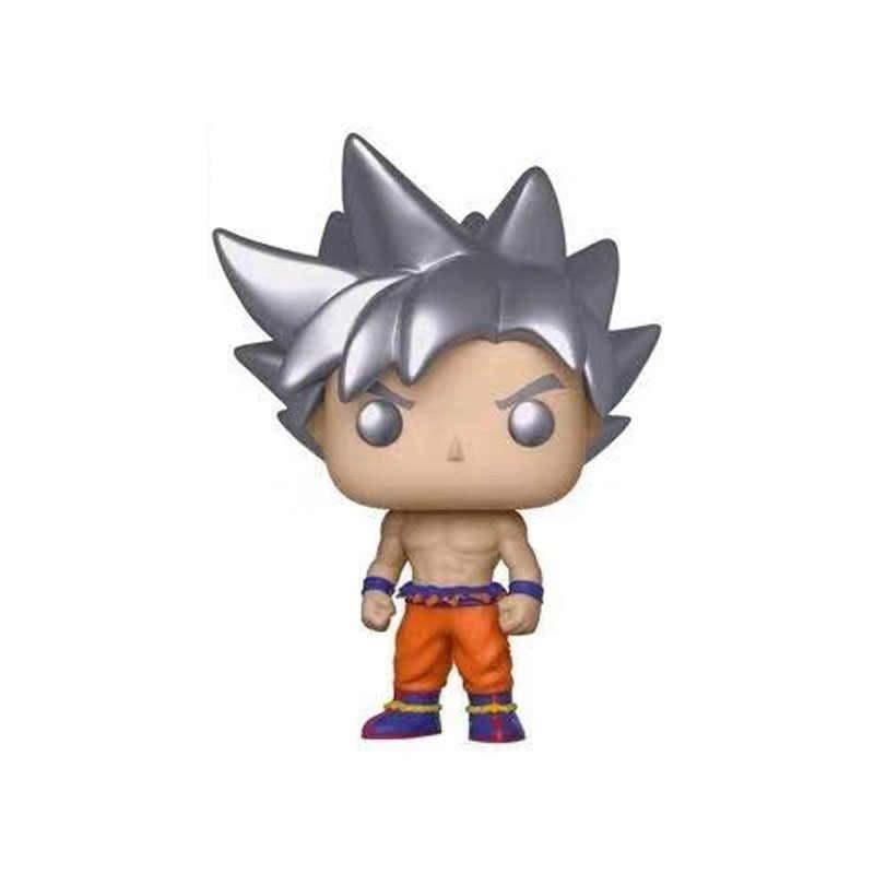 Dragon Ball Z Goku ULTRA INSTINCT виниловые фигурки модель игрушки самоуверенная Гоку серебряные волосы версия Q украшение куклы подарок