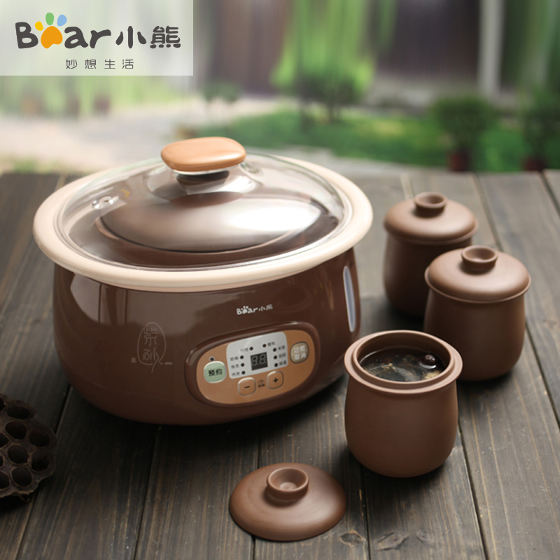 Stew Pot Redware Slow Cookers Electric Stewing Machine Automatic Pottery Soup Porridge Sweet Soup Cooking Pot Three Small Liners chinese food shandong jinan specialty spiced sweet foam sweet mo vein grain porridge breakfast instant porridge 400gx2bags