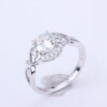 1.0ct Moissanites diamant Engagement Ringe für frauen 14k weiß gold Hochzeit ringe weibliche Schmuck top qualität