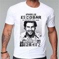 Pablo Escobar Narcos O-pescoço dos homens Camiseta Hip Hop Curto manga t-shirt do homem Camiseta masculina Narcos thug life stlye camisa